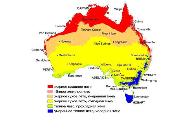 klimat - Австралия