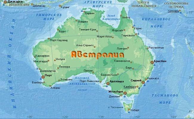 map australia - Австралия