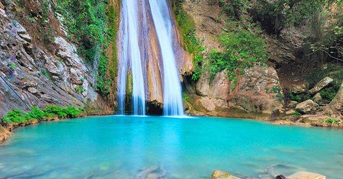neda waterfalls in zaharo of peloponnese - Пелопоннес