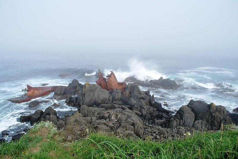Mys Nosappu na poluostrove Nemuro ostrova Hokkajdo - Хоккайдо
