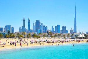 и пляж croped - Каникулы в Арабских Эмиратах
