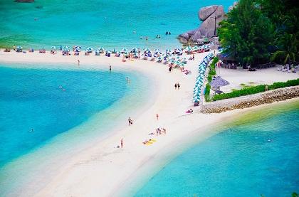 Plyazh ostrova Nang YUan Tailand - Куда лучше поехать на Новый год на море?
