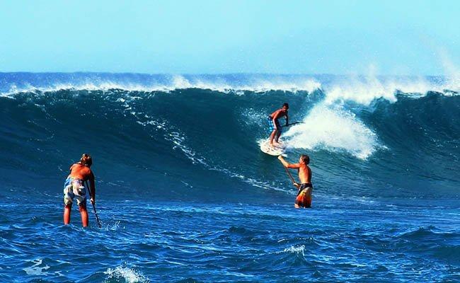 Сёрфингисты.