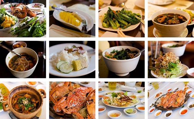 Разнообразие блюд вьетнамской кухни.